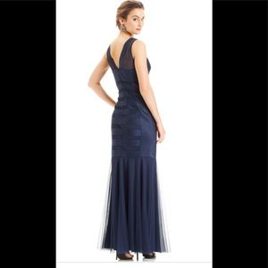 JS Collections Mermaid A-Line Blue Gown